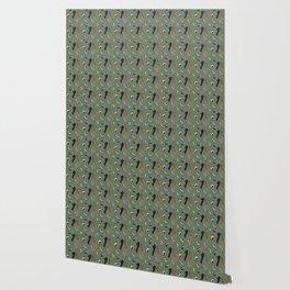 North American Woodpeckers - Green Wallpaper