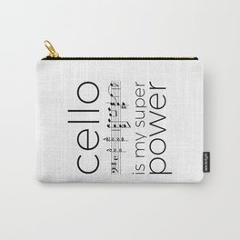 Is cello your super power? (white) Carry-All Pouch