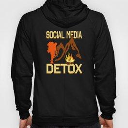 Hiking climbing for social media digital detox Hoody