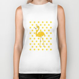 Yellow Flamingo  - Bird Biker Tank