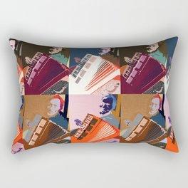 The Accordion Player Rectangular Pillow