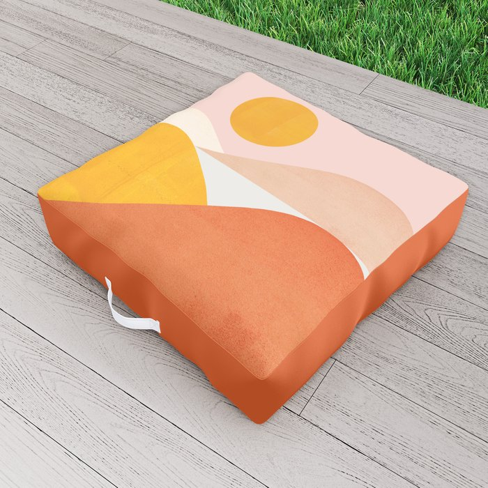 Abstraction_Mountains Outdoor Floor Cushion