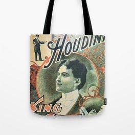 Houdini, king of cards, vintage poster Tote Bag
