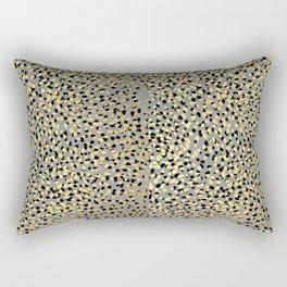 Colvi - leopard animal print gold black and white gender neutral modern trendy non binary art decor Rectangular Pillow