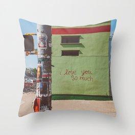 I Love You So Much Austin Throw Pillow