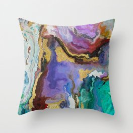 modern marble p Throw Pillow