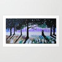 Woodland Rendezvous Art Print
