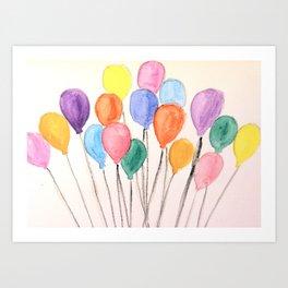 Balloon Doodle Art Print