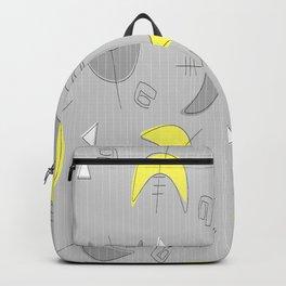 Boomerangs!  Grey and Yellow Backpack