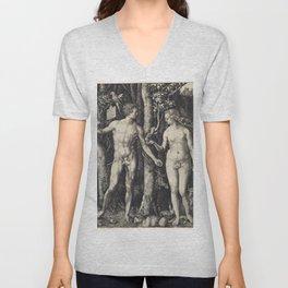 Albrecht Dürer - Adam and Eve (1504) Unisex V-Neck