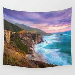 Big Sur Bixby Bridge Adventure Wall Tapestry