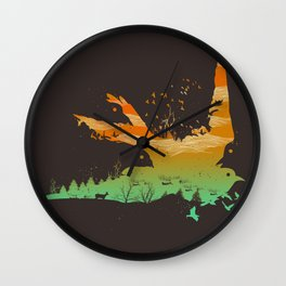 Fly Away Home Wall Clock