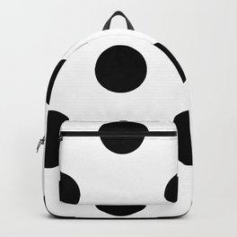 Giant Black and White Polka Dots | Backpack