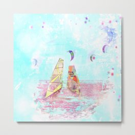 #Surfen on #Baltic #sea #digital #art #for your #home #design Metal Print