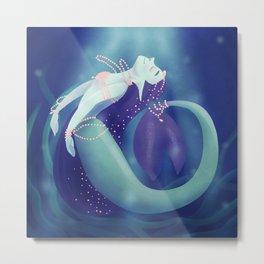 Pearl Mermaid Metal Print