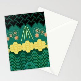 Rainforest HARMONY pattern Stationery Cards