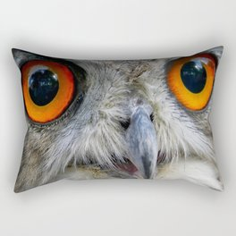 Owl Close up Rectangular Pillow
