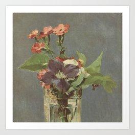Manet Florals  Art Print