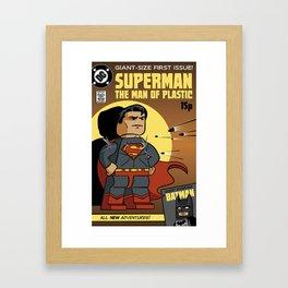Lego Superman Framed Art Print