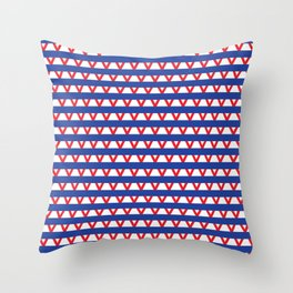 Paranoia (Blue and Red) Throw Pillow