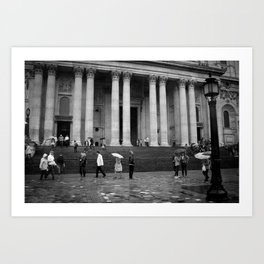 London Rainfall Art Print