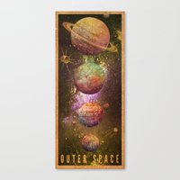 outer space Canvas Prints featuring Outer space by Julien Renard