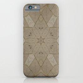 Beige Stone Star Motif iPhone Case