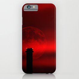 sunset, moon and flight limiting lights iPhone Case