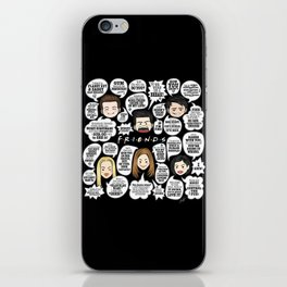 FRIENDS TV Lines iPhone Skin