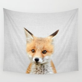 Baby Fox - Colorful Wall Tapestry