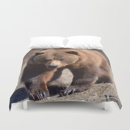 Alaskan Grizzly Bear - Spring Duvet Cover