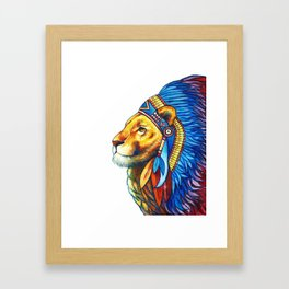The Lion Chief Framed Art Print