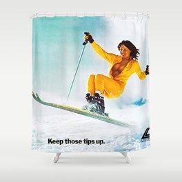 Keep it up, Ski Girl Shower Curtain