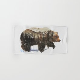 Arctic Grizzly Bear Hand & Bath Towel
