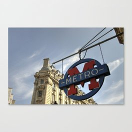 M for Metro  Canvas Print