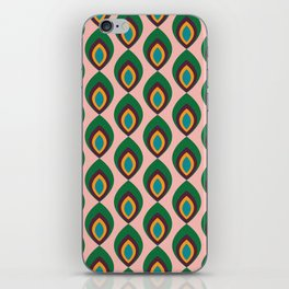 Peacock feather pink #homedecor #midcenturydecor iPhone Skin