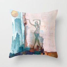The song of city Throw Pillow