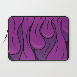 Psychedelic Typography Design Melting Purple Laptop Sleeve