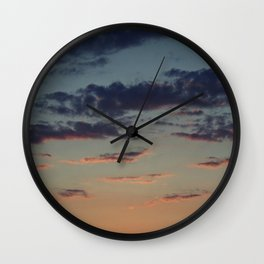 Pastel Sunset Wall Clock