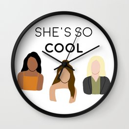 She's So Cool Podcast Wall Clock
