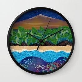 Mauna Kea Landscape Wall Clock
