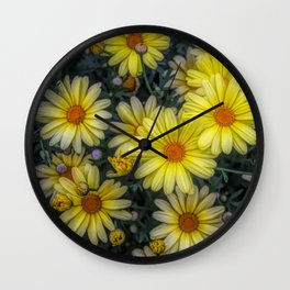 A Pop of Color Wall Clock