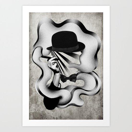gentle smoke Art Print