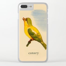 Cute Canary Painting Clear iPhone Case