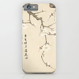 Vintage Chinese Ink and Brush Painting and Calligraphy iPhone Case