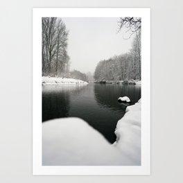Winter on the Sammamish River Art Print