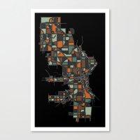 milwaukee Canvas Prints featuring Milwaukee by BigRedSharks