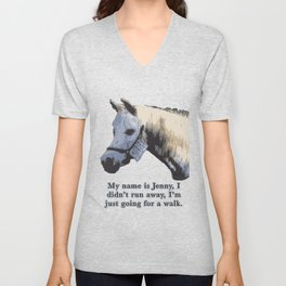 Jenny the Horse Unisex V-Neck