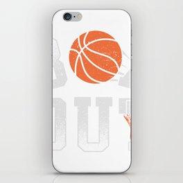 Basketball Coach Shirt Box Out rebound defense iPhone Skin