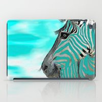 zebra iPad Cases featuring Zebra  by Saundra Myles